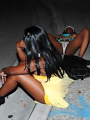 Drunk black gfs lying in the...